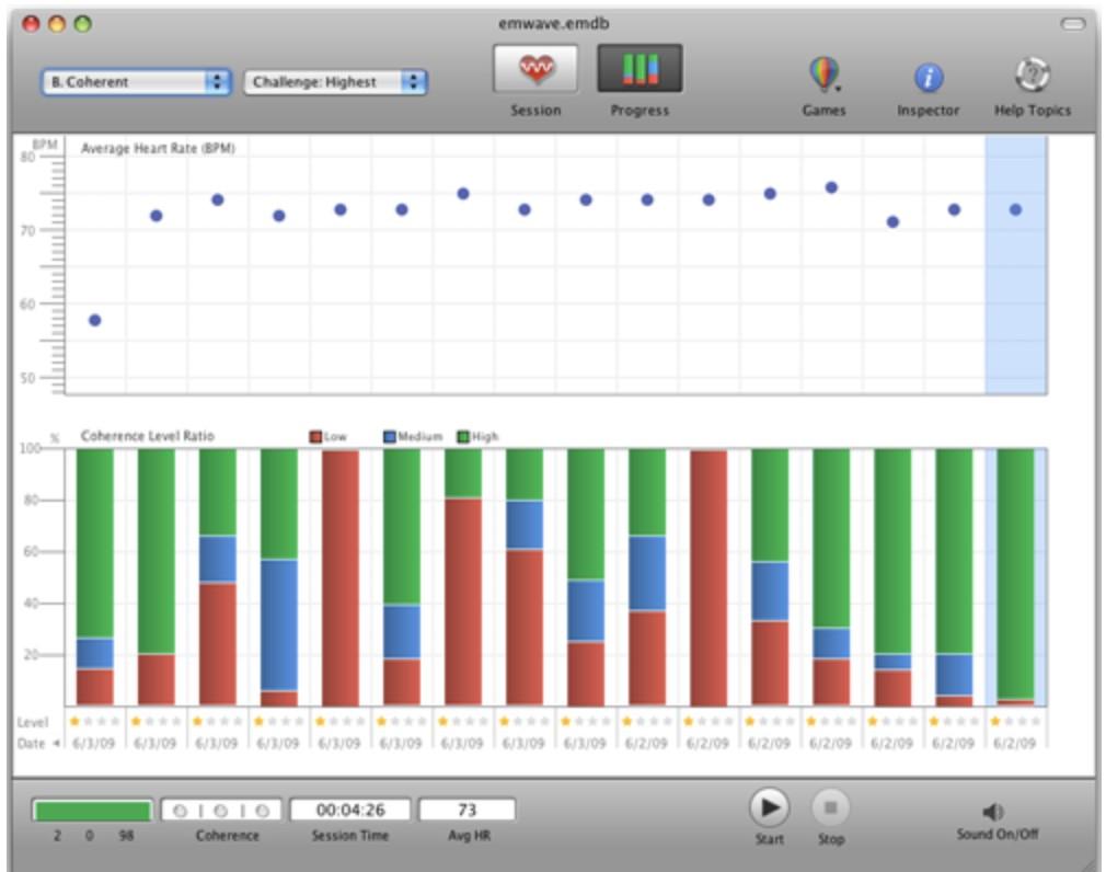 emWave Pro Screens